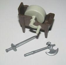 Playmobil Accessoire Décor Lot Atelier Médiévale Forge Polisseur NEW