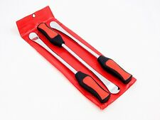 Three Spoon Motorcycle Tire Lever Iron Changing Tool Kit Case New Free Shipping