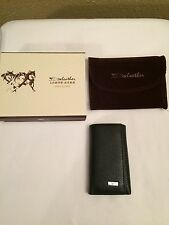 Septwolves Wallet Black Tri Fold swleather Snap Mens Never Used Key Cash Card
