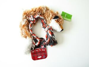 Dog Toys (2) - No Stuffing Fox and Tug 'n Play Rope