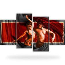 XXL Akt-Erotik Bild auf Leinwand. 4 x Bilder. Abstrakt.