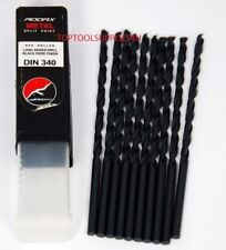 ADDAX LONG SERIES GROUND HSS DRILL BITS for METAL WOOD PLASTIC 10 PACK - 5MM