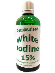 longevity foods clesr White Iodine 15% Max / Nails/ Hair