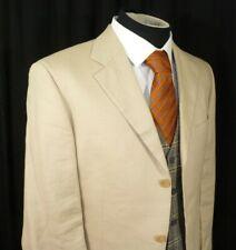 Hugo Boss Black Label Solbiati 100% Pure Linen 3 Button Blazer Jacket 40 EU 50