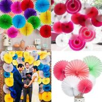 5pcs Tissue Paper Fan Honeycomb Flower Wedding Birthday Party Hanging Decoration