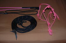 STIFF HALTER, BLACK/PINK 14' LEAD ROPE, HANDY CARROT STICK FITS PARELLI TRAINING