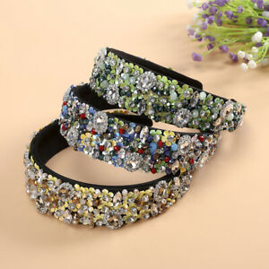 Baroque Ladies Full Diamond Hairband Crown Decoration Headband Hair Accessories