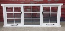 Wooden Georgian Style Triple Casement Window, Glazed, Astragals, Made to measure
