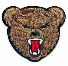 Bear Iron On Patch- Embroidered Appliques Animal Badge Safari Zoo Sew Crafts