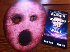 ROGER WATERS THE WALL NYC  Movie TICKET+ Prop MASK Pre Us + Them TOUR PINK FLOYD