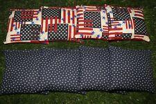 Cornhole Bean Bags Set of 8 Aca Regulation Bags Us Rustic Stars & Stripes