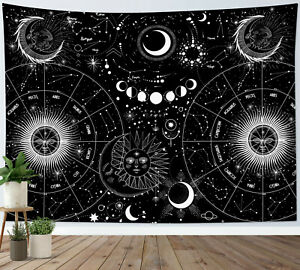 Constellation Moon Phase Tapestry Psychedelic Wall Hanging Living Room Bedroom