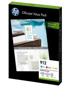 3 HP Druckerpatronen Tinte Nr. 912 C / M / Y Multipack
