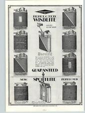 1920s PAPER AD Marathon Cigarette Lighter Perfected Windlite Sportlite Sets