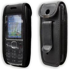 Funda de teléfono móvil Estuche de Cuero con clip de cinturón Para Nokia C2-01