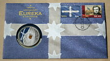 More details for australia eureka stockade 150th anniversary 2014 fdc with $5 australian coin