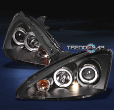 2000-2004 FORD FOCUS ZX3 ZX5 TWIN HALO PROJECTOR HEADLIGHTS BLACK 2001 2002 2003