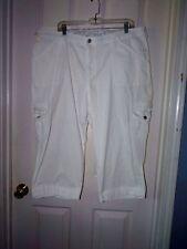 Woman 22w LEE COMFORT BAND WHITE CAPRI Pants Jeans Beachy cruise eu LOOK SALE