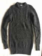 BN Acne Studios Mohair Knit Jumper Dress M L Charcoal Dark Grey Knitwear RRP£350