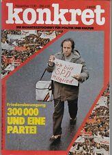 Konkret Nr.11 / 1981 Friedensbewegung