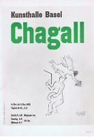 Marc Chagall Kunsthalle Basel Poster Offset Lithograph Vintage 1966 Platesigned