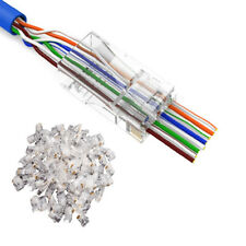 Wholesale 100 x RJ45 Connector Network Solid Cable CAT5 Crimp Ends Plugs Heads