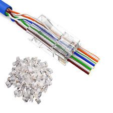 100x Useful Cat5 Cat5e Network Connector 8P8C RJ45 Cable Modular Plug Terminals