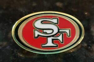 "SAN FRANCISCO 49ERS FOOTBALL LAPEL HAT PIN  1"" x 3/4"""
