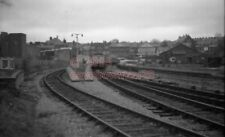 PHOTO  MERTHYR RAILWAY STATION VIEW TOWARDS THE BUFFER STOPS OF THE MUCH CHANGED