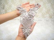 Crystal Bridal Applique Diamante Trim Bead Motif Rhinestone Wedding Accessories