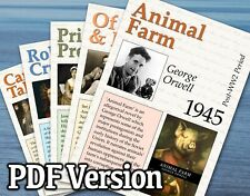 SET OF 100 ENGLISH LITERATURE POSTERS (PDF) FOR CLASSROOM / LITERACY DISPLAY