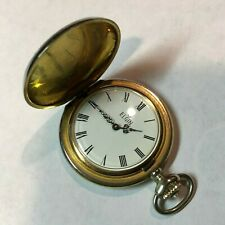 Hunter Style - Running Well Looks Good Modern Elgin Pocket Watch - 17 Jewels -