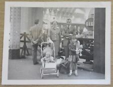 Vintage Photograph of Family at Railway Train Station, 1959