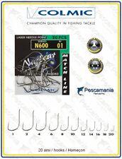 Anzuelo Colmic N600 Niquelado Tallo Medio Afilado Químicamente Micro Espiga