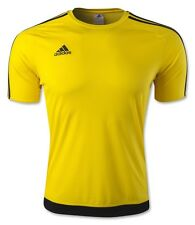adidas 3 Stripe Estro Mens Running Football Rugby T Shirt - (S)