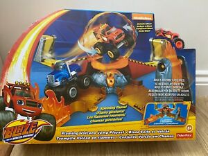 Blaze and the Monster Machines Flaming Volcano Jump Playset Fisher Price NEW