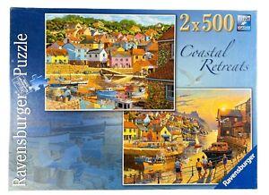 Ravensburger - Coastal Retreats 2 x 500 Piece Jigsaw Puzzles  - Complete