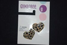 NWT Gymboree Girls Glamour Kitty Cat Hair Clips Brown Black Heart Leopard
