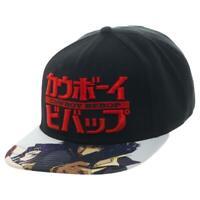 Cowboy Bebop Snapback Cap Hat w/ Embroidered Logo Spike & Faye Valentine Artwork