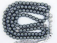 HAEMATITE Hadeed 6mm Round X 99 PRAYER BEADS ISLAMIC  TASBIH MASBAHA QURAN GIFT