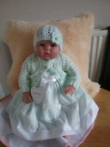 SALE KINDER PRETTY DAISY DRESS  SIZES 3-6 MONTHS OR 6-9 MONTHS (Cardigan Sold)