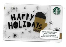 2015 Starbucks Card ~ Christmas ~ Happy Holidays, Mitten, Snow