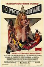 HOLLYWOOD BOULEVARD Movie POSTER 27x40 Candice Rialson Mary Woronov Rita George