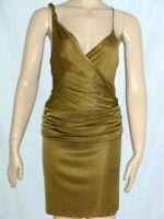 $298 NWT Sz 4 BLACK HALO Green Shimmer Cocktail Dress Surplice Bodycon New