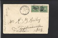 BONDVILLE,ILLINOIS,1910 COVER & LETTER TO KY. CHAMPLAIGN CO 1872/OP.