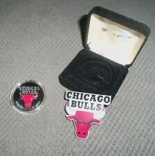 More details for nba chicago bulls solid silver coin limited edition nba champions 1996