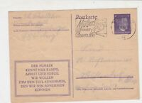 Germany 1943 Berlin Cancel Mutter Match + child Slogan Stamps Card ref R 19270