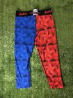 Eastbay Red And Blue Compression Pants leg sleeves tights mens size small