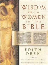 Wisdom from Women in the Bible, Edith Deen, 0060540257, Book, Good