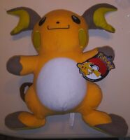"NWT Large Pokemon RAICHU Plush Jumbo 16"" Stuffed Animal Toy Licensed Nintendo"